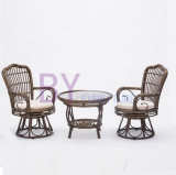 by-491 Wholesale Luxury Restaurant Three-Piece Living Room Rotary Chair Furniture