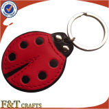 Cheap Promotional Customized Shape Leather Keychain (FTKC1041H)