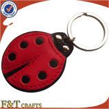 Cheap Promotional Customized Shape Leather Keychain (FTKC1041H)