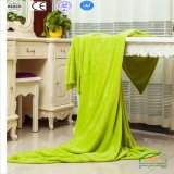 Green Coral Fleece Blanket in Customized Label 2017 New Design