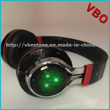High Quality Portable Wireless Bluetooth Headphone Headset with LED Light
