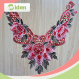 Free Sample Avaliable Lovely Embroidery Red 3D Collar Lace