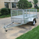 Hot-Dipped Galvanized Box Tilt Trailer with 600mm Cage