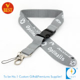 High Quality Flat Polyester Printed Lanyard as Promotional Items