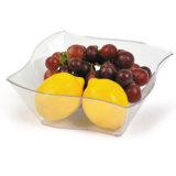 "PP/PS Plastic Bowl 7"" Clear Elegant Wave Serving Bowl"
