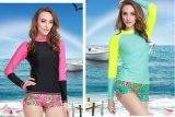 2016 Breathable Lycra Long Sleeve Laday′s Swimwear &Diving Suit (CL729)