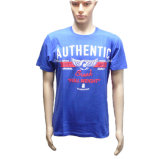 Blue Plain Cotton Wholesale Pre-Shrunk T-Shirt for Men