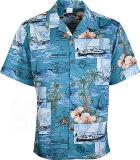 Summer Beach Wear Mens Printed Shirt