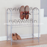 Wire Shoe Rack with 12 Pairs Shoe Rack Bottom up Shelf with CE (G-SR03)