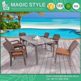 Patio Arm Chair Rattan Armless Chair Outdoor Dining Set Stackable Chair (MAGIC SYTLE)