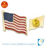 Custom Promotional Souvenir Gold Plated Flag Metal Badge/Pins