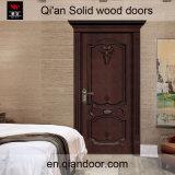 Black Walnut Solid Wood Door Interior Wooden Engraved Doors