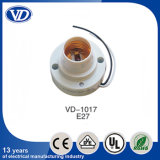 E27 Plastic Lamp Holder for Ceiling Rose Vd-1017 with Wire