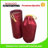 Resuable Drawstring Polyester Wine Bag for One Bottle