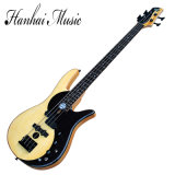 Hanhai Music / 4-String Butterfly Electric Bass with Flame Maple Veneer
