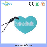 Heart Shape Shinning Epoxy Tag with MIFARE 1K Chip for Bus Ticket