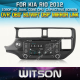 Witson Car DVD for KIA Rio 2012 (W2-D8583K) Car DVD GPS 1080P DSP Capactive Screen WiFi 3G Front DVR Camera