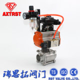 3PC Full Port Floating Welding Ball Valve Wtih Pneumatic Actuator