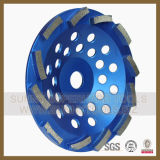 Double Row Diamond Grinding Abrasive Cup Wheel for Concrete