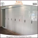 Wood Sliding Door Closet Wardrobe with White Colour PVC Door