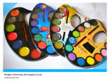 12*4.0cm Glitter Water Color Cake with Brush for Painting and Drawing