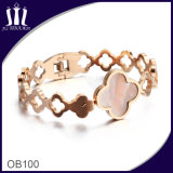 Hollow out Cross Spring Bracelet with Shell Charm