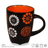 12oz Black Outside Color Glaze Inside Fashion Coffee Mug