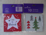 Mini Square Christmas Gift Cards Set and Envelop