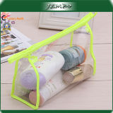 Simple Style Polyester Edge Customized Clear PVC Wash Bag