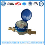 Brass Single Jet Dry Dial Type Mechanical Cold/Hot Water Meter