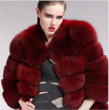 New Fashion Colored Real Fox Fur Coat / Factory Wholesale Women′s Winter Clothing