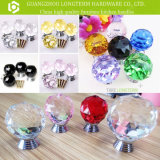 Fancy Customized Color Clear Crystal Knobs for Furniture