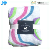100% Polyester Super Soft Printed Coral Fleece Blankets