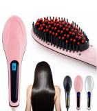 Professional Ceramic Hair Straightener Comb with LCD Display