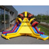 4 Lane Commercial Bouncer Dry Inflatable Slide