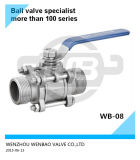 1.4308 Male Threaded Ball Valve Dn40 Pn64 Price