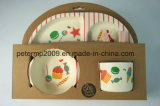 Eco Friendly and Healthy Bamboo Fiber Kids Dinner Set