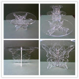 Butterfly Acrylic Wedding Party Cake Display Stand/Acrylic Exhibition Stand