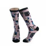 3D Digital Print Sublimation Ankle Socks Sublimated Socks