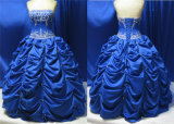 China Blue Georgous Ball Skirt Prom Dress