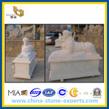 White Polished Marble Stone Sculpture for Garden
