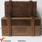 Recycled Fir Wood Decorative Chest Trunk Organizer