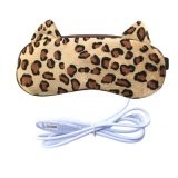 USB Heated Leopard Print Plug in Lavender Eye Pillow