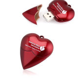Plastic Heart Flash Memory Stick Necklace USB Flash Drive