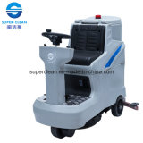 Double Brush, Low-Noise Ride-on Floor Scrubber Dryer