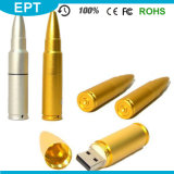 Wholesale Golden Bullet Shape USB Flash Drive with Cheap Price