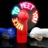 Colorful Message Flashing LED Fan with Logo Printed (3509)