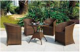 Patio Garden Aluminum PE Rattan Bar Dining Furniture Set