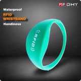 1 Inch Reading Distance Colorful RFID Silicone Wristband