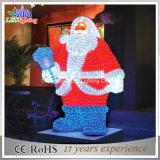 Hot Christmas Decoration 3D Acrylic Santa Claus